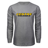 Grey Long Sleeve T Shirt-Centre Colonels