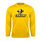 Performance Gold Longsleeve Shirt-Primary Logo