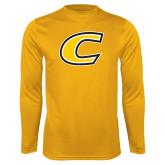 Performance Gold Longsleeve Shirt-C Primary Mark