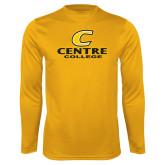 Performance Gold Longsleeve Shirt-C Centre College