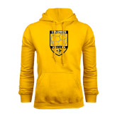 Gold Fleece Hoodie-Soccer Shield