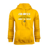 Gold Fleece Hoodie-Track and Field Lanes