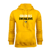 Gold Fleece Hoodie-Swim and Dive Stacked