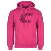 Fuchsia Fleece Hoodie-C Hot Pink Glitter