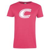 Ladies Fuchsia T Shirt-C Primary Mark