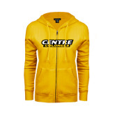 ENZA Ladies Gold Fleece Full Zip Hoodie-Centre Colonels