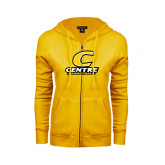 ENZA Ladies Gold Fleece Full Zip Hoodie-Basketball
