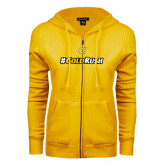 ENZA Ladies Gold Fleece Full Zip Hoodie-#GoldRush