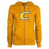 ENZA Ladies Gold Fleece Full Zip Hoodie-C Primary Mark