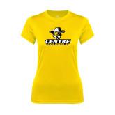 Ladies Syntrel Performance Gold Tee-Primary Logo