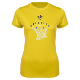 Ladies Syntrel Performance Gold Tee-Colonels vs Cats