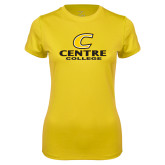 Ladies Syntrel Performance Gold Tee-C Centre College
