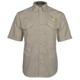 Khaki Short Sleeve Performance Fishing Shirt-C Primary Mark