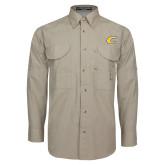 Khaki Long Sleeve Performance Fishing Shirt-C Primary Mark