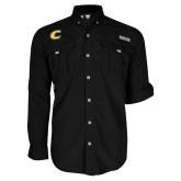Columbia Bahama II Black Long Sleeve Shirt-C Primary Mark