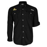 Columbia Bahama II Black Long Sleeve Shirt-C Centre College