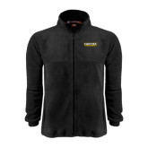 Fleece Full Zip Black Jacket-Centre Colonels