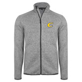 Grey Heather Fleece Jacket-C Primary Mark
