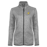 Grey Heather Ladies Fleece Jacket-C Primary Mark