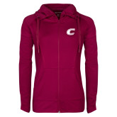 Ladies Sport Wick Stretch Full Zip Deep Berry Jacket-C Primary Mark