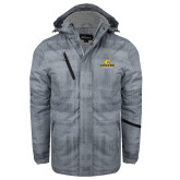 Grey Brushstroke Print Insulated Jacket-C Centre College