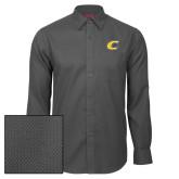 Red House Dark Charcoal Diamond Dobby Long Sleeve Shirt-C Primary Mark