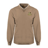 Khaki Executive Windshirt-Primary Logo