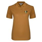 Ladies Easycare Gold Pique Polo-Colonel Head