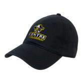 Black Twill Unstructured Low Profile Hat-Primary Logo