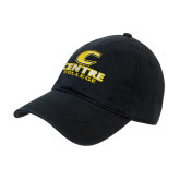 Black Twill Unstructured Low Profile Hat-C Centre College