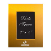Gold Brushed Aluminum 3 x 5 Photo Frame-Primary Logo Engraved