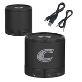 Wireless HD Bluetooth Black Round Speaker-C Primary Mark Engraved