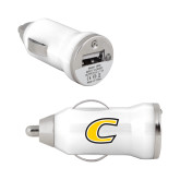 On the Go White Car Charger-C Primary Mark