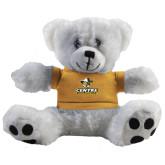 Plush Big Paw 8 1/2 inch White Bear w/Gold Shirt-Primary Logo