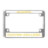 Metal Motorcycle License Plate Frame in Chrome-Alumni
