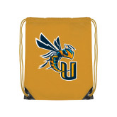 Gold Drawstring Backpack-CU with Yellow Jacket