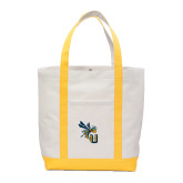 Contender White/Gold Canvas Tote-CU with Yellow Jacket