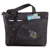 Excel Black Sport Utility Tote-CU with Yellow Jacket