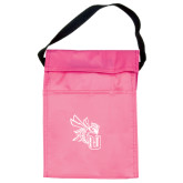 Koozie Pink Lunch Sack-CU with Yellow Jacket