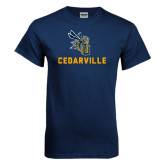 Navy T Shirt-CU Cedarville with Yellow Jacket