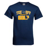 Navy T Shirt-Tee Off Golf Design
