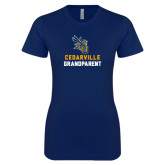 Next Level Ladies SoftStyle Junior Fitted Navy Tee-Grandparent