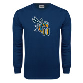 Navy Long Sleeve T Shirt-CU with Yellow Jacket