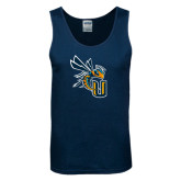 Navy Tank Top-CU with Yellow Jacket