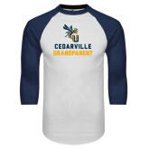 White/Navy Raglan Baseball T-Shirt-Grandparent
