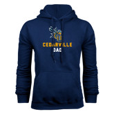 Navy Fleece Hoodie-Dad