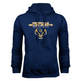 Navy Fleece Hoodie-Basketball Stacked Design