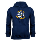 Navy Fleece Hoodie-Volleyball Stars Design