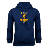 Navy Fleece Hoodie-Golf Golfer Design