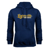 Navy Fleece Hoodie-Softball Design